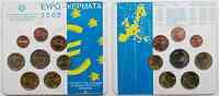 Griechenland : 3,88 Euro original Kursmünzensatz der griechischen Münze  2002 bfr KMS Griechenland 2002