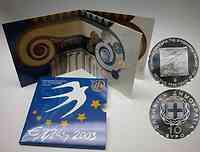 Griechenland 13,88 Euro KMS Griechenland + 10 Euro Ratspräsidentschaft 2003