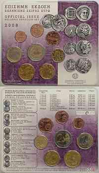 Griechenland : 3,88 Euro original Kursmünzensatz der griechischen Münze  2008 Stgl. KMS Griechenland 2008