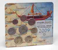 Griechenland : 3,88 Euro original Kursmünzensatz aus Griechenland  2009 Stgl. KMS Griechenland 2009 Stgl.