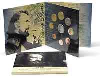 Griechenland : 13,88 Euro original Kursmünzensatz der griechischen Münze in bankfrischer Qualität + 10 Euro Ritsos in polierter Platte  2009 PP