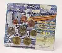 Griechenland : 3,88 Euro original Kursmünzensatz der griechischen Münze  2010 Stgl.
