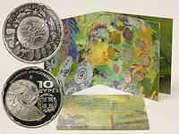 Griechenland : 13,88 Euro original Kursmünzensatz der griechischen Münze in bankfrischer Qualität + 10 Euro Biodiversität in polierter Platte  2010 PP