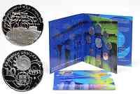 Griechenland : 13,88 Euro original Kursmünzensatz der griechischen Münze in bankfrischer Qualität + 10 Euro Akropolis in polierter Platte  2011 PP