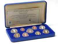 Irland : 5,88 Euro original Kursmünzensatz aus Irland mit 2 Euro Gedenkmünze Römische Verträge PP  2007 PP