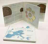 Luxemburg : 5,88 Euro original Kursmünzensatz aus Luxemburg mit 2 Euro Gedenkmünze Henri  2004 Stgl. KMS Luxemburg 2004