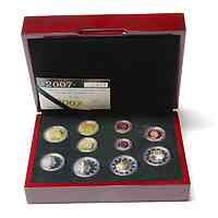 Luxemburg: original KMS 2007 PP mit 2 Euro Römische Vertrage und Palast