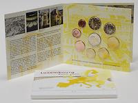 Luxemburg : 5,88 Euro original Kursmünzensatz aus Luxemburg mit zusätzlicher 2 Euro Gedenkmünze Wappen des Grossherzogs Henri  2010 Stgl. KMS Luxemburg 2010