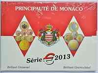 Monaco : 5,88 Euro KMS Monaco mit 2 Euro Gedenkmünze UNO  2013 Stgl.