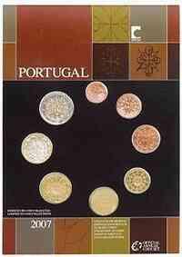 Portugal : 3,88 Euro original Kursmünzensatz aus Portugal FDC  2007 vz.