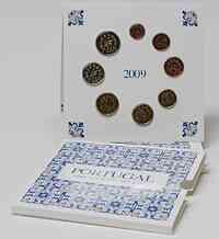 Portugal : 3,88 Euro original Kursmünzensatz aus Portugal  2009 Stgl. KMS Portugal 2009 BU