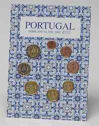 Portugal : 3,88 Euro original Kursmünzensatz aus Portugal FDC  2009 Stgl. KMS Portugal 2009 FDC