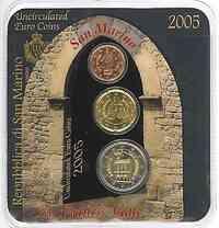 San Marino 2,22 Euro Minikit - 2005 Stgl.