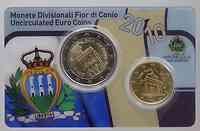 San Marino : 2,10 Euro Minikit - Set aus 2 Euro + 10 Cent  2010 Stgl.
