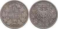 Deutschland : 1/2 Mark   1909 ss.