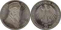 Deutschland : 5 DM Gutenberg 1968 vz/Stgl.