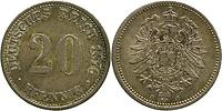 Deutschland : 20 Pfennig  patina 1876 vz/Stgl.