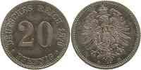 Deutschland : 20 Pfennig  patina 1876 vz.