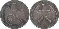 Deutschland : 3 Reichsmark Waldeck minimal berieben 1929 PP