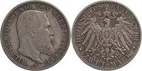 Deutschland : 2 Mark Wilhelm II. patina 1904 ss/vz.