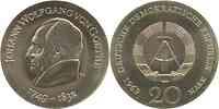 DDR : 20 Mark Johann Wolfgang v. Goethe 1969 Stgl.
