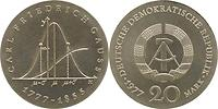 DDR : 20 Mark Carl Friedrich Gauß 1977 Stgl.