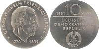 DDR : 10 Mark G. W. Friedrich Hegel 1981 Stgl.