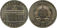 DDR : 5 Mark Brandenburger Tor - Super Preis ! - 1987 Stgl.