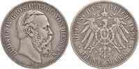 Deutschland : 5 Mark Ludwig IV. patina, winz. Kratzer 1891 ss.