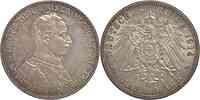 Deutschland : 3 Mark Wilhelm II. patina 1914 vz.