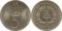 DDR : 5 Mark 20 Jahre DDR (Legierungsprobe) 1969 vz/Stgl.