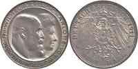 Deutschland : 3 Mark Wilhelm II. u. Charlotte  1911 vz/Stgl.