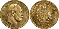 Deutschland : 10 Mark Wilhelm I. winz. Kratzer 1874 f.Stgl.