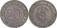 Deutschland : 20 Pfennig  patina 1887 vz/Stgl.