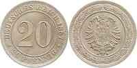 Deutschland : 20 Pfennig   1887 vz.