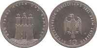 Deutschland : 10 DM 800 Jahre Hamburger Hafen 1989 vz/Stgl.