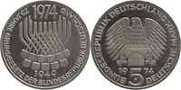 Deutschland : 5 DM Grundgesetz  1974 vz/Stgl.