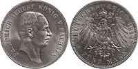 Deutschland : 5 Mark Friedrich August III.  1914 vz/Stgl.