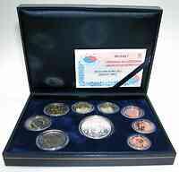 Spanien : 15,88 Euro original Kursmünzensatz aus Spanien + 12 Euro Präsidentschaft in Originalkassette 2003 PP