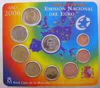 Spanien : 3,88 Euro original Kursmünzensatz aus Spanien - Christoph Columbus  2006 Stgl. KMS Spanien 2006 Columbus