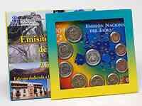 Spanien : 5,88 Euro Medaille Canarische Inseln + original Kursmünzensatz aus Spanien mit 2 Euro Gedenkmünze WWU  2009 Stgl. KMS Kanarische Inseln 2009