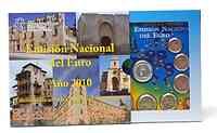Spanien : 5,88 Euro Medaille La Mancha + original Kursmünzensatz aus Spanien mit 2 Euro Gedenkmünze Cordoba  2010 Stgl. KMS La Mancha 2010