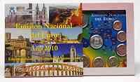 Spanien : 5,88 Euro Medaille Leon + original Kursmünzensatz aus Spanien mit 2 Euro Gedenkmünze Cordoba  2010 Stgl. KMS Leon 2010