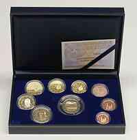 Spanien : 5,88 Euro original Kursmünzensatz aus Spanien mit 2 Euro Gedenkmünze Alhambra  2011 PP KMS Spanien 2011 PP