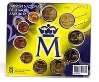 Spanien : 7,88 Euro original Kursmünzensatz aus Spanien mit 2 Euro Gedenkmünze Burgos + Eurobargeld  2012 Stgl. KMS Spanien 2012 BU