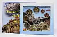 Spanien : 7,88 Euro Medaille Melilla + original Kursmünzensatz aus Spanien mit 2 Euro Gedenkmünze Burgos + Eurobargeld  2012 Stgl.