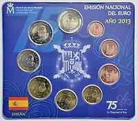 Spanien : 5,88 Euro KMS Spanien inkl. 2 Euro Gedenkenkmünze  2013 Stgl.