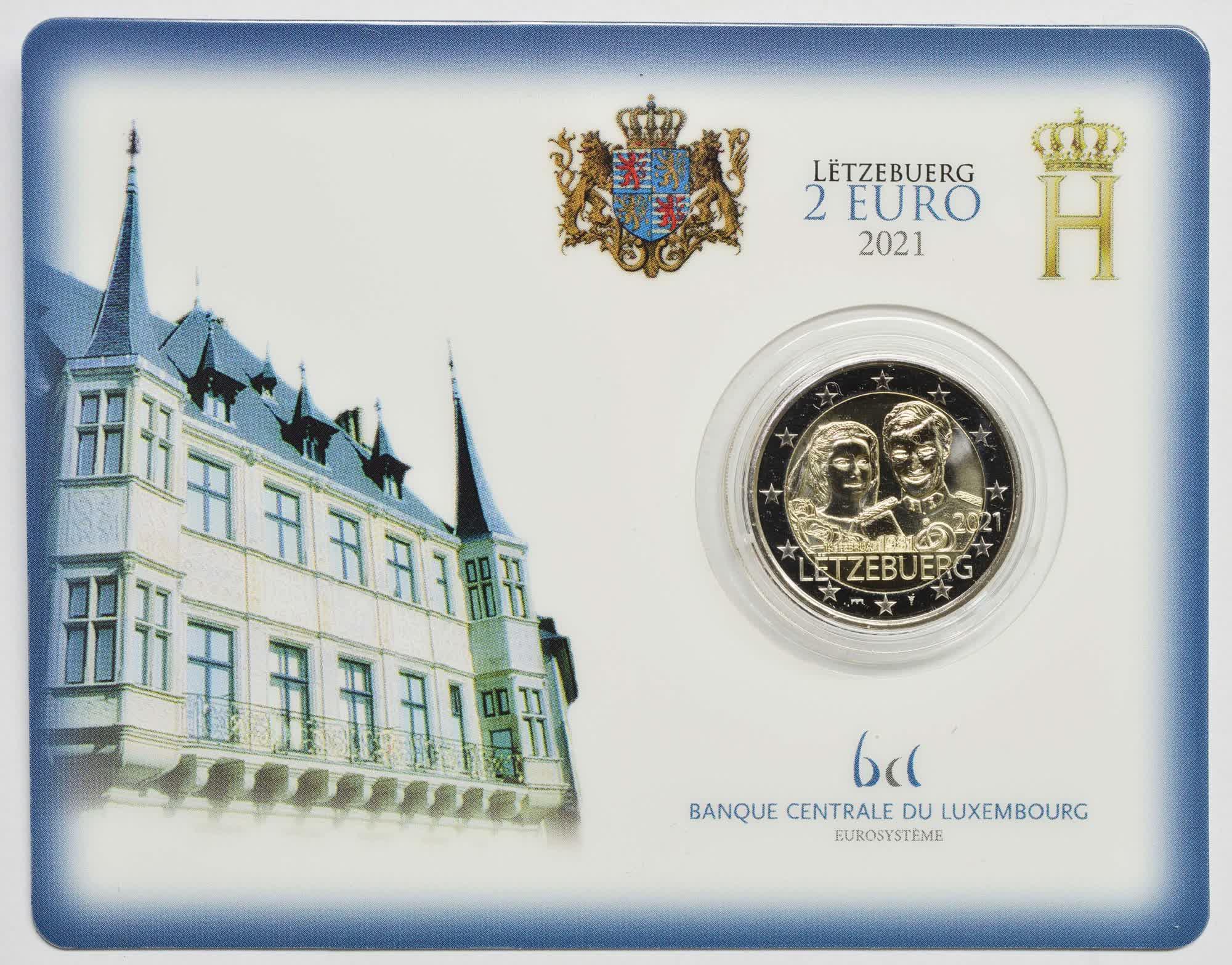 Luxemburg 2021 EURO - Gedenkmünzen