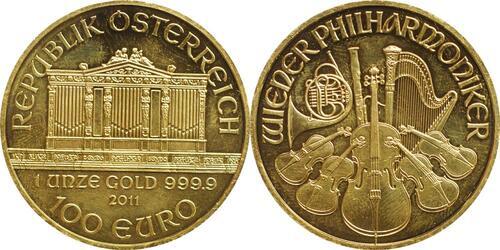 Lieferumfang:Österreich : 100 Euro Wiener Philharmoniker  2011 Stgl.