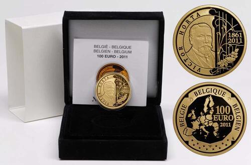 Lieferumfang:Belgien : 100 Euro 150. Geburtstag Victor Horta  2011 PP 100 Euro Belgien 2011